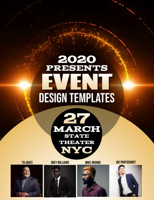 EVENT SEMINAR FLYER TEMPLATE Volante (Carta US)