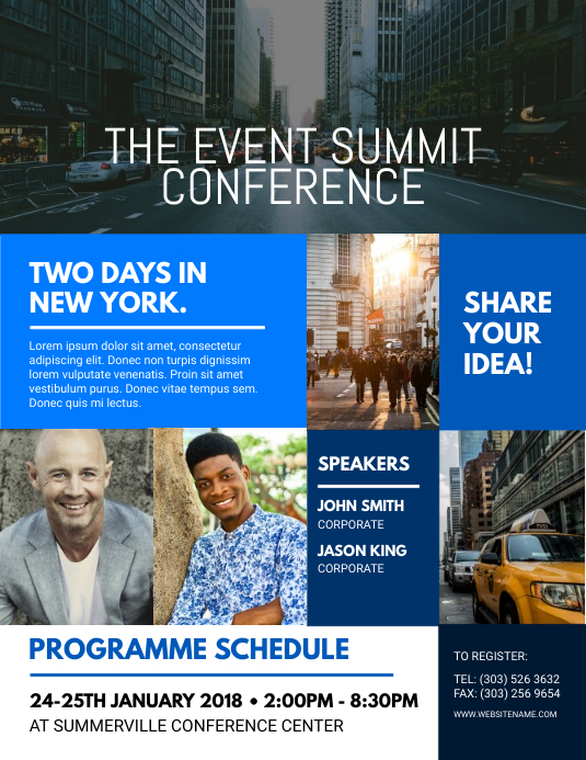 Event Summit Conference Flyer Template  Postermywall