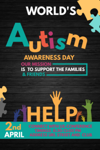 Event template,Autism awareness templates,Health templates