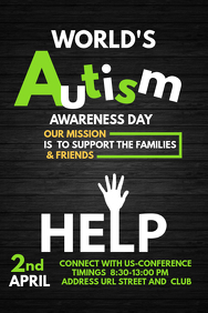 Event template,Autism awareness templates,Health templates