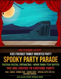 Event template,Halloween Flyer Volante (Carta US)