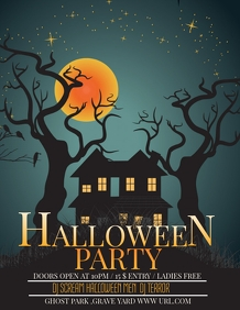 Event template,Halloween party Flyer