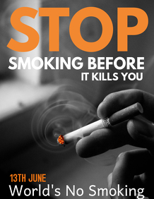 No smoking day flyers