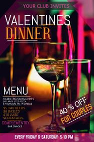 Event template,Valentines template,Romantic dinner templates