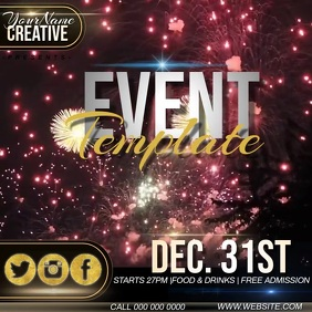 Event template instagram