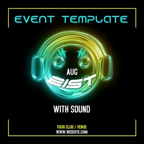 EVENT TEMPLATE WITH SOUND