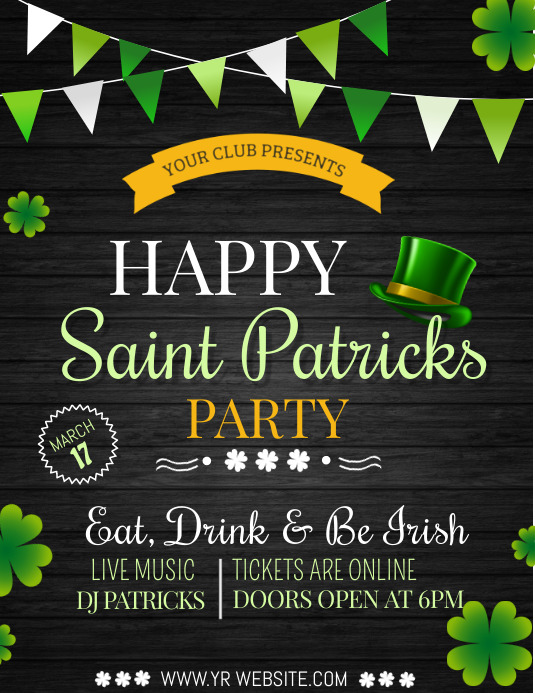 event templates,st.patricks day templates
