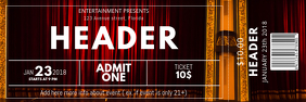 Event Theatre Ticket template Banner 2' × 6'