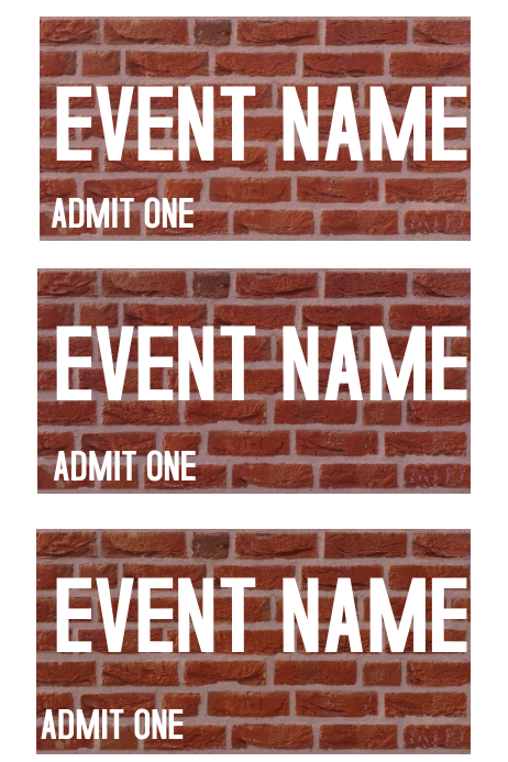 event ticket template postermywall