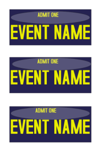 Event Ticket Template  Party Tickets Templates