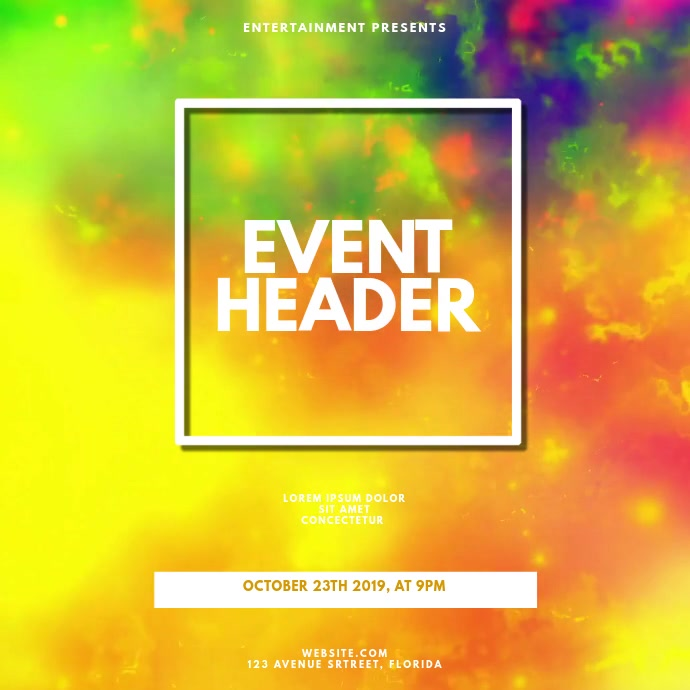 Event video design Template for instagram