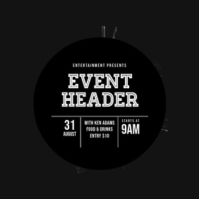 Event video flyer black template