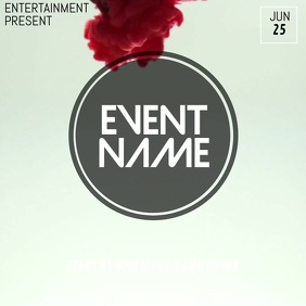 Event video flyer template