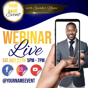 event WATCH ONLINE LIVE AD TEMPLATE Instagram Post