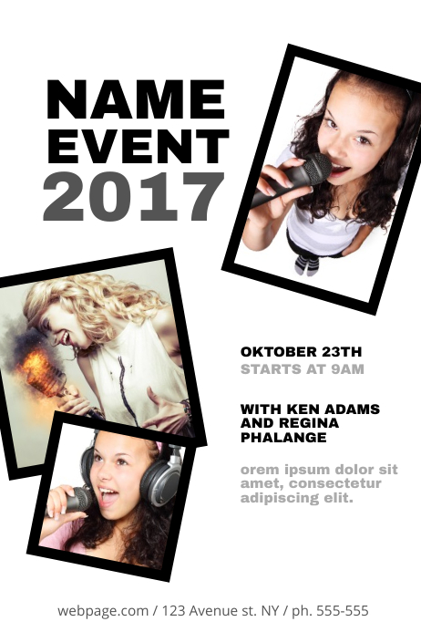 Event Flyer Template with photos