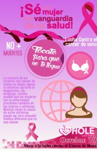 Evento lucha contra el cáncer de seno