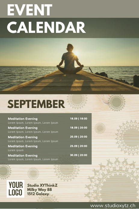 Events Calendar Organizer Monthly Upcoming Ad