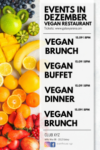 Events Calendar Restaurant Bistro Food Vegan