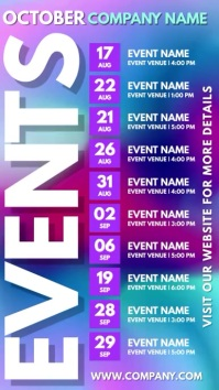Events Schedule Digital Template