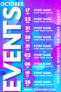 Events Schedule Template