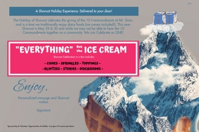 "Everything but the ice cream 4""x6"" label"