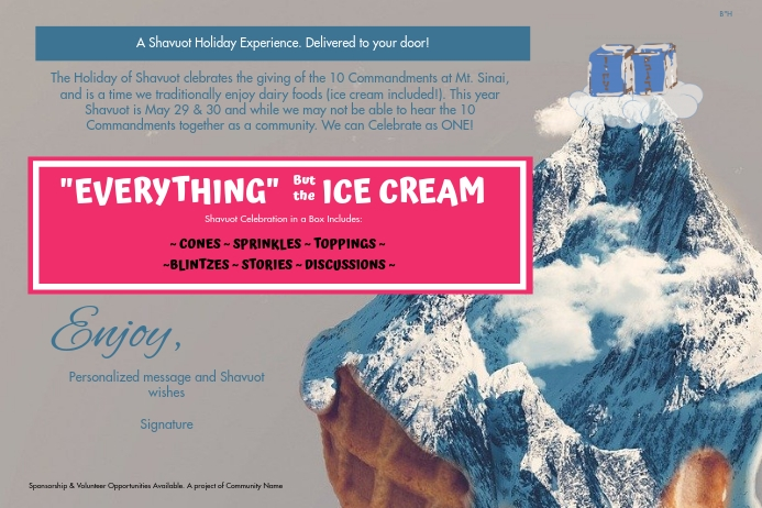 "Everything but the ice cream 4""x6"" label template"