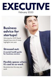 Executive business magazine cover