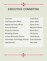 Executive Committee Template