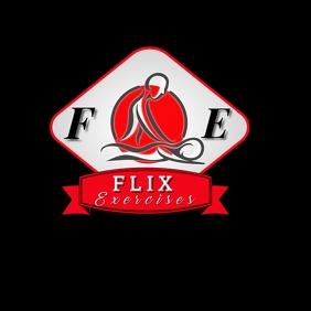 EXERCISE BLACK BACKGROUND logo template