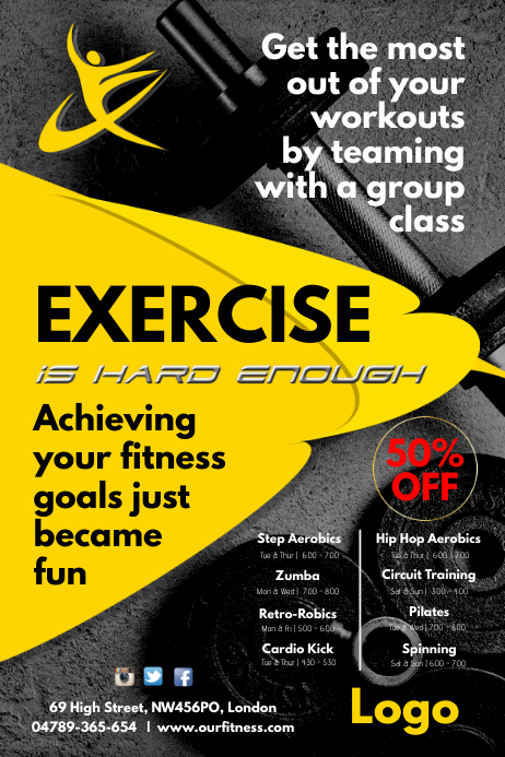 exercise flyer template