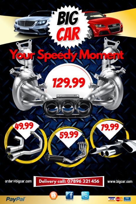 Exhaust Sale Poster