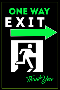 Exit Here Poster template