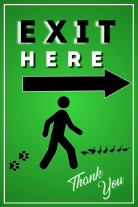 Exit Here Poster Póster template
