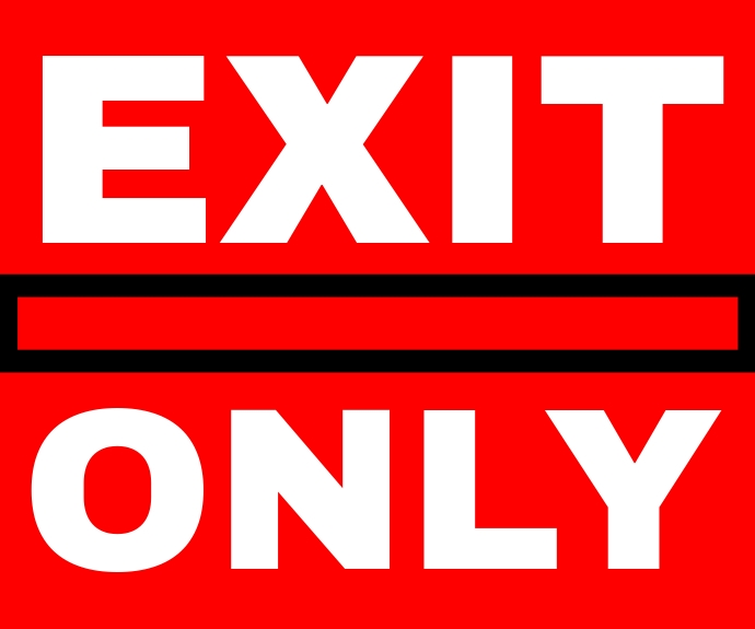 EXIT ONLY SIGN TEMPLATE Rectángulo Mediano