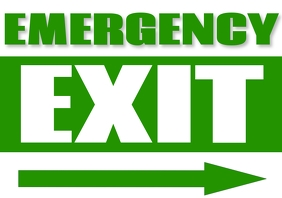 Exit Sign A4 template