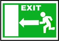 Exit Sign A6 template