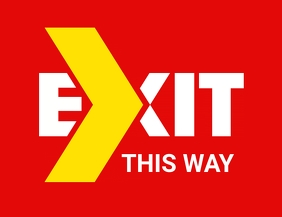 Exit Sign Flyer (US Letter) template