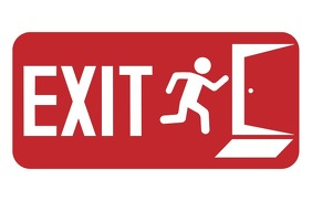 Exit Sign Tabloid template