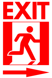 Exit Sign PosterTemplate Plakat