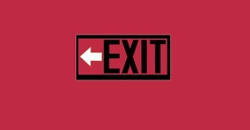 exit sign template Facebook Shared Image