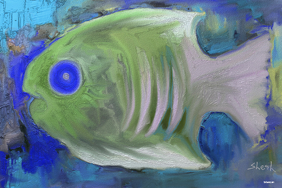 Exotic Fish Poster art prints for wall decorating