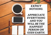 EXPECT AND APPRECIATE QUOTE TEMPLATE A5
