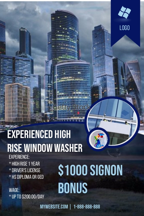Experienced High Rise Window Washer