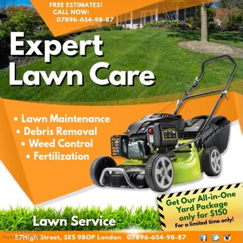 Expert Lawn Care Video Template