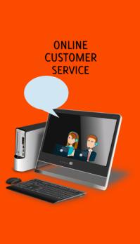 Expert Online Customer Service Business Card template