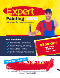 Customizable Design Templates For Painting Contractor Business Card