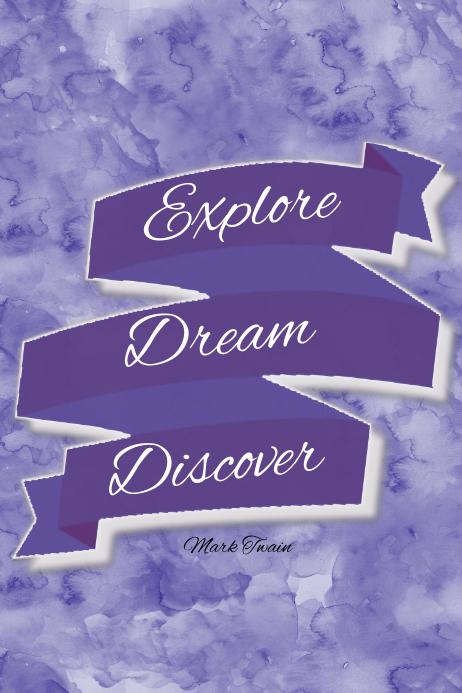 Explore Dream Discover Motivational Inspirational Gift Print