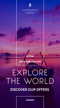 explore the world instagram story advertiseme template