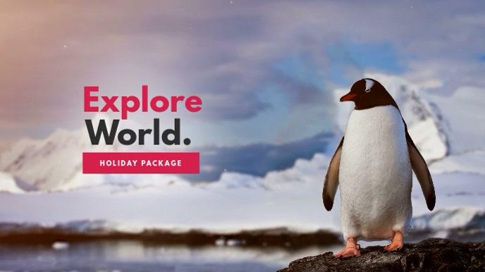 Explore World/ Holidays Video Template Affichage numérique (16:9)