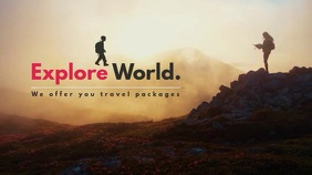Explore World Video Template Digitalanzeige (16:9)